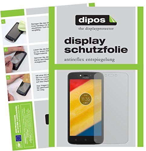 dipos I 6X Schutzfolie matt kompatibel mit Lenovo Moto C Plus Folie Bildschirmschutzfolie