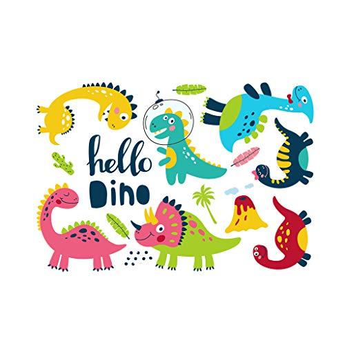 Colorido surtido dinosaurio adhesivo de pared para niños cuarto de guardería, dormitorio, sala de juegos de jardín de infantes Deocration