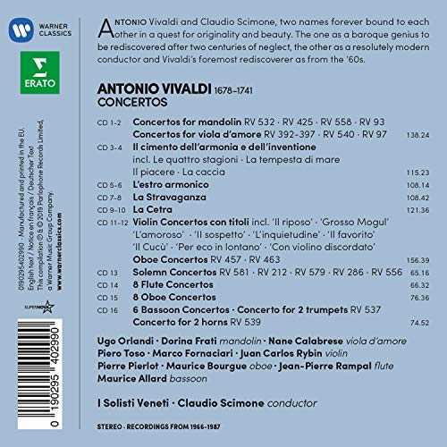 Concertos For Mandolin, Viola D'Amore (Box 16 Cd)