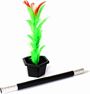 OUERMAMA Magic Wand to Flower Magic Trick Easy Magic Props for Adults Kids Magic Performance