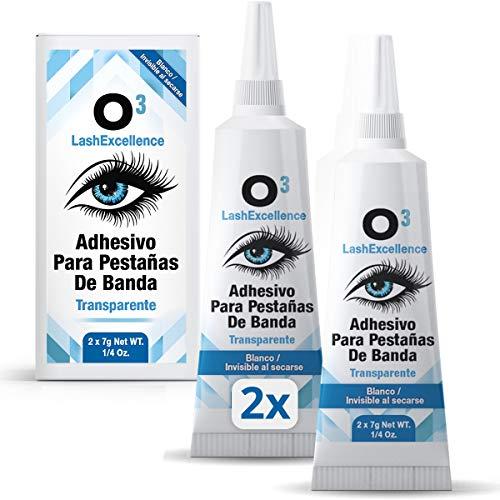 O³ Pegamento Pestañas Postizas - 2 Unidades - Adhesivo Pestañas Postizas - Pegamento Extensiones de Pestañas - Para Pestañas de Banda y Pelo a Pelo