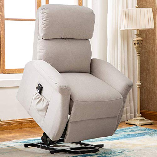 Bonzy Home Lift Chair, 3 Position & Side Pocket, Soft Fabric Power Recliner with Remote, Lift Chair...