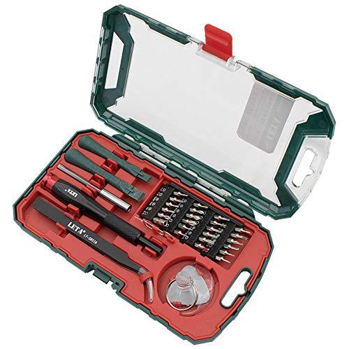 LZHui juego de mini destornilladores magnéticos de precisión de 32 piezas, kit de herramientas de reparación de bricolaje para iPhone, computadora, reloj y otros productos electrónicos