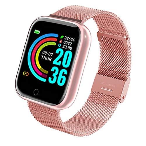 FeelMeet Impermeable Inteligente USB del Reloj presión de la Banda Reloj del perseguidor de Y68 Inteligente Reloj Pulsera de Ritmo cardiaco Sangre rastreador de Ejercicios Rosa