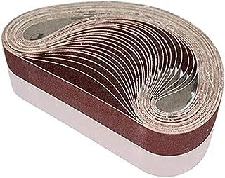 25 x 762 mm slipbälten, 60/80/100/120/240 grus, bältesslipverktyg för träbearbetning, metallpolering, 20-pack aluminiumoxi...