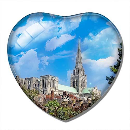 'N/A' Magnete Britannico Regno Unito Inghilterra Cattedrale di Chichester 3D Magnete per Frigorifero Artigianato Souvenir Magneti per Frigorifero in Cristallo Collezione Regalo da Viaggio