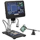 Andonstar Microscopio Digital portátil USB de Doble Lente AD206S Pantalla LCD Microscopios de Video Alcance con endoscopio para soldar SMT, SMD, BGA, Lupa de recolección de Monedas