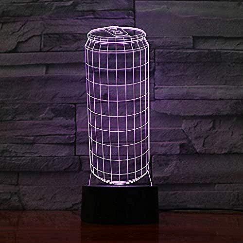 Batteriebetriebenes 3D-Lampen-Nachtlicht-Hologramm mit mehreren Farben und enung für Geburtstags-LED-Nachtlichtlampe Visueller Lichteffekt-16 colors remote