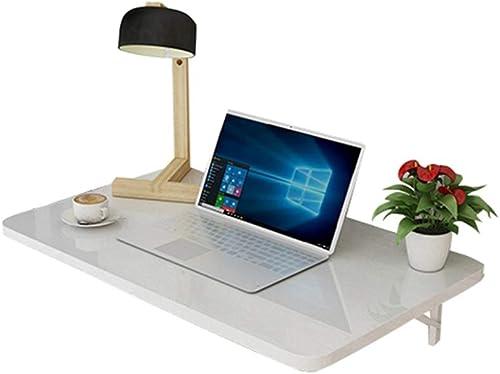 KLEDDP Table Pliante, Bureau d'ordinateur Mural, établi Mural, Table d'étude pour Enfants, Table de Cuisine, Blanc (Taille   60×40cm)