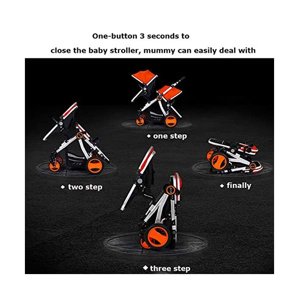 JXCC Double Strollers Baby Pram Tandem Buggy Newborn Pushchair Ultra Light Folding Child Shock Absorber Trolley Can Sit Half Lying 0-3 years old,50kg maximum -Safe And Stylish Red JXCC 1. {Four seasons can be} - The awning can be adjusted to multiple angles to easily cope with the sun 2.{sleeping basket multi-angle, two-way adjustable}: The sleeping basket can be adjusted from 0 to 175 degrees. The baby can sit in the mother's arms, can lie flat, can face the mother, or can face the scenery, suitable for all occasions. To meet the needs of 0-3 years old baby. 3. {Multiple shock absorption design} - Frame spring shockproof, rear wheel, two wheel brakes, wheel spring shockproof, baby safety 7