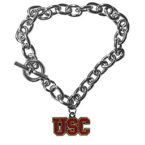 NCAA Siskiyou Sports Womens USC Trojans Charm Chain Bracelet One Size Team Color