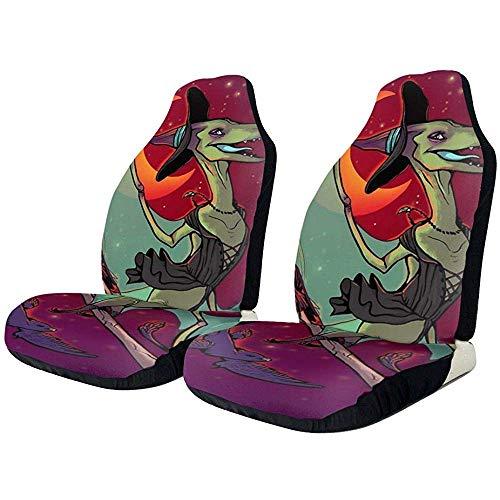Enoqunt autostoelhoezen Pteranodon heks dinosaurus vogels boom voorkant autostoelhoes beschermkussen alleen universele pasvorm voor auto's