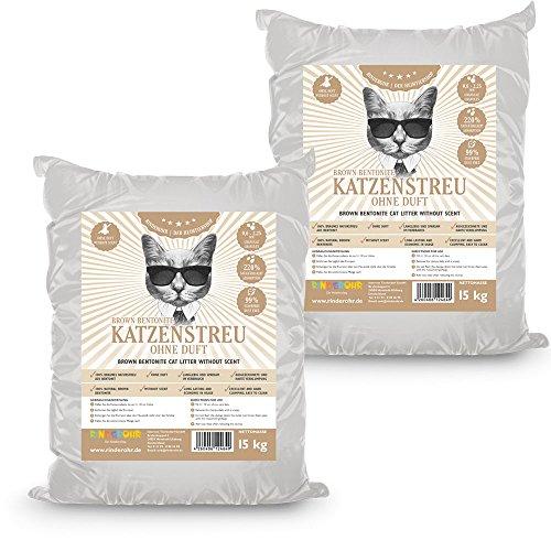 Rinderohr® Brown Betonit Katzenstreu ohne Duft 30kg