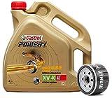 Castrol Kit Duo Power 1 Aceite de Motores 10W-40 4T 4L + Filtro Mahle OC306
