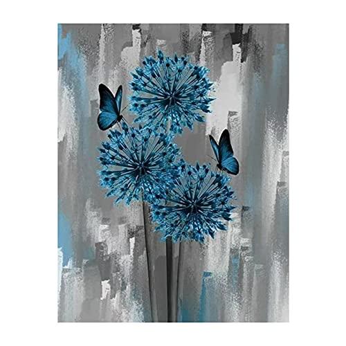 "Daseey 10 x 10""Dandelion DIY 5D Diamond Painting Kit Full Drill Diamond Painting Grass Flower Pattern Acrílico strass Pintura em mosaico Artesanato Decoração de parede para casa Presente sem mol"