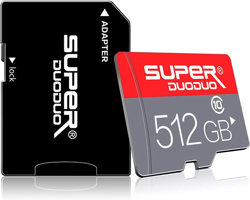 Micro SD Card 512GB TF Memory Card 512gb Class 10 High Speed Memory Card with Adapter for Camera, Phone, Computer,Dash Came,Tachograph,Tablet,Drone(512gb)