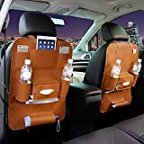 BianchiPamela Car Seat Back Storage Organizer Interior Multi-Use Bag Accessory New Brown -