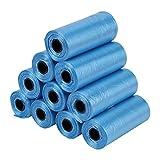 HEEPDD Bolsa para desechos de Perro, 10 Rolls Dog Poop Bag Recolección de desechos para Mascotas para Perros y Gatos (15 Piezas Cada Rollo)(Azul)