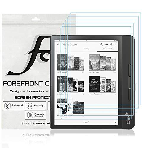 Forefront Cases Schutzfolie für Tolino Epos 2 – 5 Stück – Tolino Epos 2 Schutzfolie - PET - Ultradünne 0,1-mm, Vollflächiger Displayschutz, Bruchsicher, HD-Klar