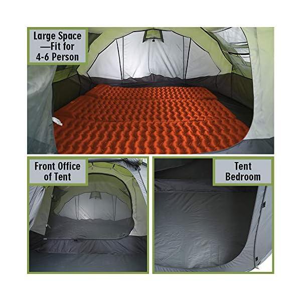 Tienda de campaña para 4 – 6 Personas/Hombre, para Acampar instantáneamente [5 Ventanas] Impermeable de Doble Capa para… 2