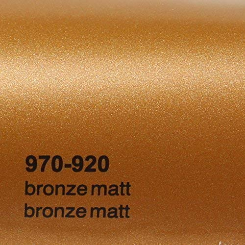 20,72€/m² Oracal 970RA 920 Bronze Matt gegossene Profi Autofolie 152cm breit BLASENFREI mit Luftkanäle