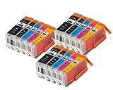 15 XL CLI-551XL/ PGI-550XL ColourDirect compatible Cartouches d'encre pour MG5450 MG5550 MG5650...