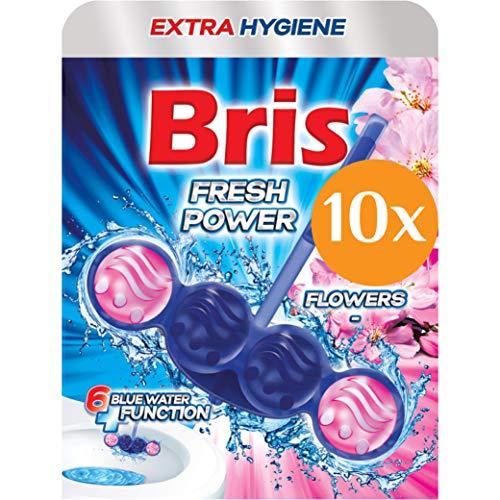 Bris WC Frisch Blau Fresh Power - WC-Reiniger, Extra Hygiene, Antikalk, Antischmutz Kloreiniger Tabs, 10er Pack (10 x 55g)