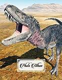 Photo Album: Large Photo Albums with Writing Space Memo, Extra Large Capacity Picture Album | Premium Dinosaur Tarbosaurus Cover by Irma Reimann