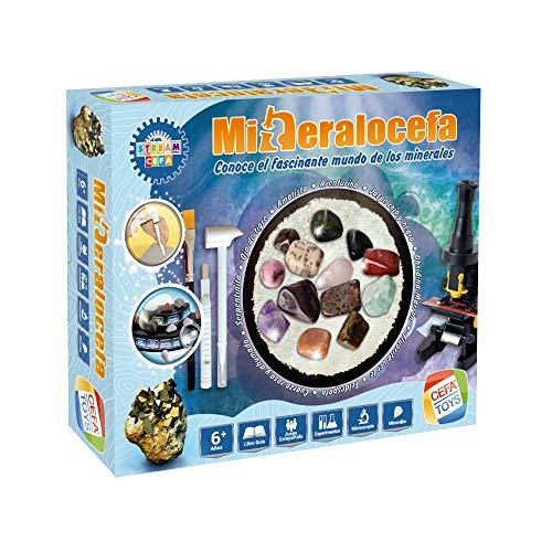 Cefa Toys Juego MINERALOCEFA ¡Conoce EL Fascinante Mundo DE LOS MINERALES, Multicolor (21841)