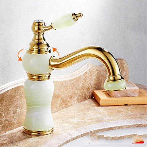 Kupfer antik im europäischen Stil Unter der Bühne goldenes Becken drehen Saphir,Küchenarmatur, Wasserhahn für die Küche, Einhebel-Spültischbatterie mit herausziehbarer Dual-Spülbrause, 462° drehbar