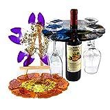 Richoose 2PCS Wine Holder Silicone Molds - DIY Large Wine Glass Rack Resin Casting Mold of 5 and 6 Slots for Wine Butler, Wine Bottle Holder Epoxy Crafts