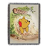 Disney's Winnie the Pooh, 'Vintage Pooh' Woven Tapestry Throw Blanket, 48' x 60', Multi Color