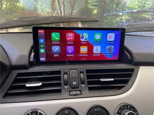 ZWNAV 1 Din Carplay per BMW Z4 E89 2009-2018 Android 10 Lettore multimediale Touch Screen Video per auto Audio Ricevitore radio Navigazione GPS Unità principale Auto Stereo (4G 64G Carplay)