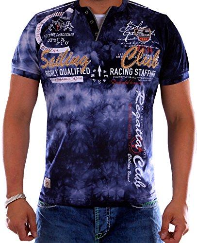 Verwaschenes Herren T-Shirt Sailing Club Slim Fit (Bis 5XL) 2879 (4XL-Slim, Navy 2879)