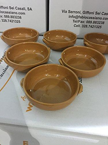 le terrecotte di cassiano fabio Set 6 Pezzi TEGAMINI in Ceramica CM15