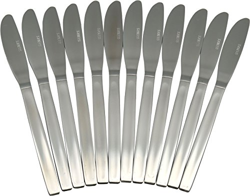 Lot de 12 couteaux de table en acier inoxydable