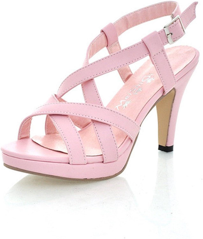 Sandaler för dammode, sommardamernas Stiletto Heel Toe Ankle hög klack klack klack s pumpar stor storlek 34 -43  det senaste