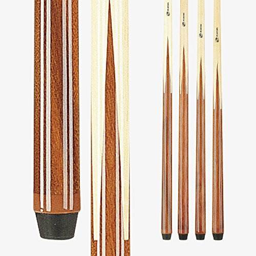 Players Set of One Piece House Pool Cue Sticks - Professional Quality for Commercial Or Residential Use (4 Cues)