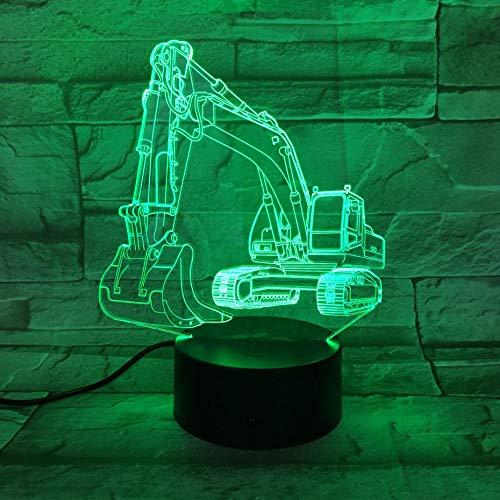 Preisvergleich Produktbild wangZJ Kreative Lampe des Nachtlicht-3d / 7 Farbänderungs-geführtes Noten-USB / Kinder spielt Geschenk / Valentinsgruß-Geschenk-Geburtstags-G... / Bagger