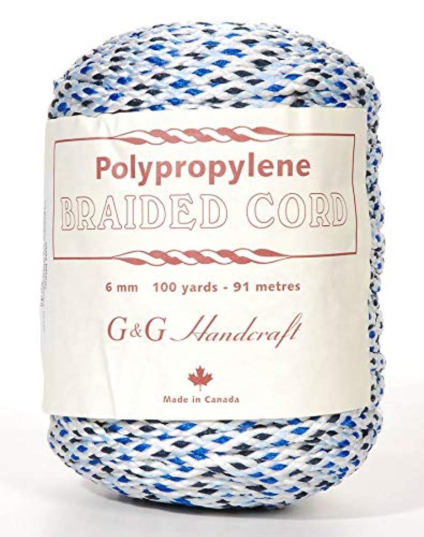 G & G HANDCRAFT GG-2698 Macramé Cord White. RYL. Nvybluee 6Mm 100Yd