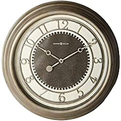 "Howard Miller Kennesaw Wall Clock 625-526 – 25.5"" Antique Nickel Oversized Gallery with Quartz Movement"