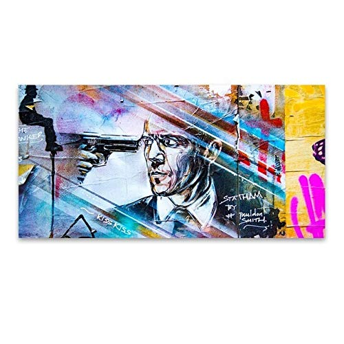 WPJ Peinture d'art Mural, Décoration Bureau Mural Peinture Impressions Murales sur Toile Art Photo Impression sur Toile Peinture sur Toile Graffiti Figure Décoration Murale sans Cadre