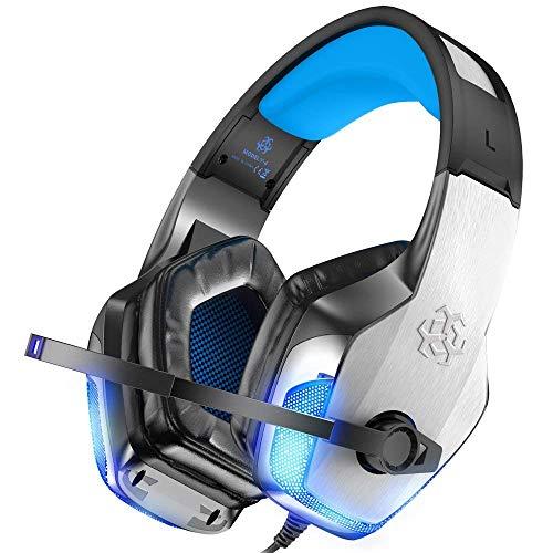 Cuffie Gaming per PS4 e PC LOFTER Headset Gaming Cuffie 7.1 per Xbox One con Microfono Cuffie da Gioco per Playstation 4, ecc - Cancellazione del Rumore e Stereo Surround