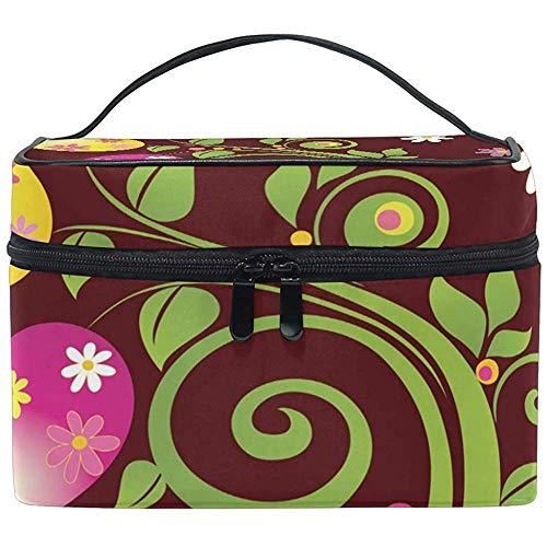 Cosmeticatasje Paasei Floral Vine toiletartikelen make-up tas tas dode case organizer opslag voor vrouwen meisjes