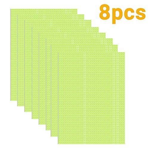 Luoistu 8 Pezzi Tappetino per Frigoriferi, Anti-Muffa Frigorifero Pad Antibatterico, Lavabile, Dimensioni tagliabili, Multifunzione Tovaglietta, sottobicchiere (Verde,30 * 45cm)