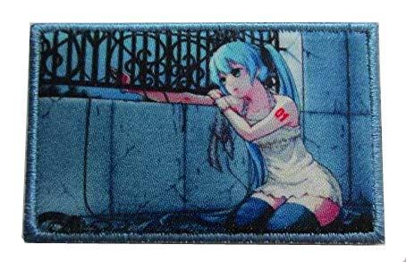 Hatsune Miku Japan Anime Military Hook Loop Tactics Morale Embroidered Printed Patch