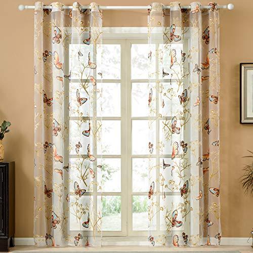 cortinas transparentes mariposa
