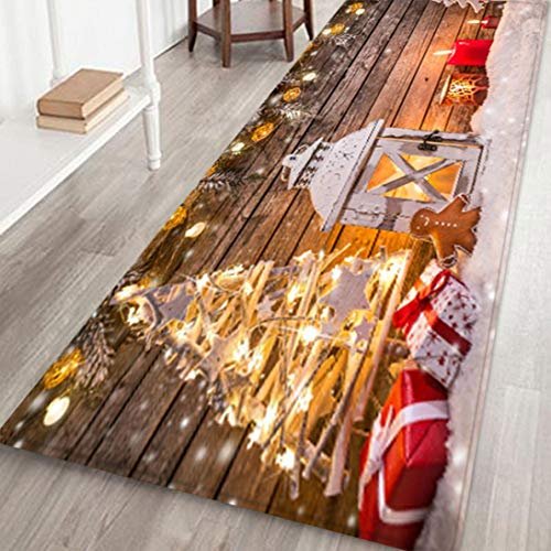 QWEDF Merry Christmas Style Carpets Welcome Doormats Indoor Carpets Carnival Home Decor 40x120CM Accessories Festival Decor Items Big Carpets for bedrooms (G)