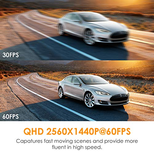 Vantrue X4 UHD 4K Dash Cam 3840x2160P 30fps, Super Capacitor 3 inch LCD Dash Camera 24H Parking Mode Car Camera with 160 Degree Wide View, Night Vision, Motion Detection, Time Lapse, Support 256GB Max