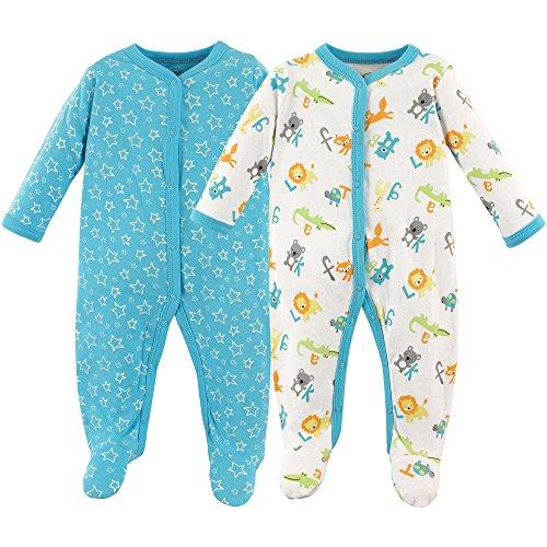Luvable Friends bebé algodón Snap Dormir y Jugar, ABCs 2 Pack, 3-6 Meses